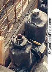 industriel, canaux transmission, chauffage, eau, entretien, transport