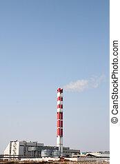 industriel, cheminées