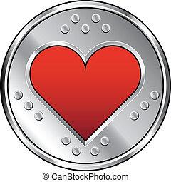 industriel, coeur, icône