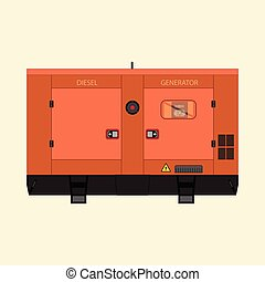 industriel, diesel, generator