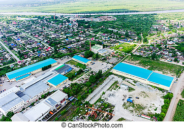 industriel, et, résidentiel, district., tyumen.russia