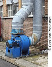 industriel, extracteur, ventilateur
