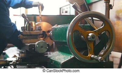 industriel, fonctionnement, torque, concept., tour, -, ...