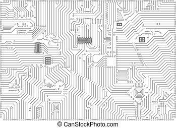 industriel, fond, high-tech, électronique