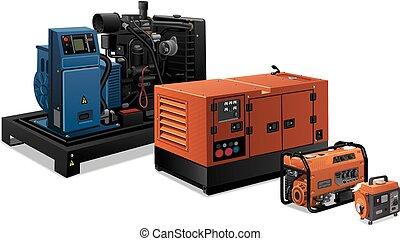 industriel, generatorer, magt