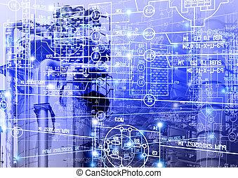 industriel, ingénierie, technologie