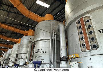 industriel, interior, vakuum, pan, udrustning
