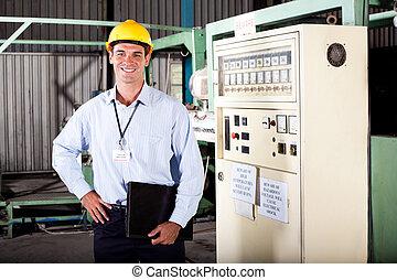 industriel, mâle, ingénieur