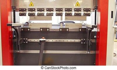 industriel, -, machine, équipement, automatiser, devant, usine, vue
