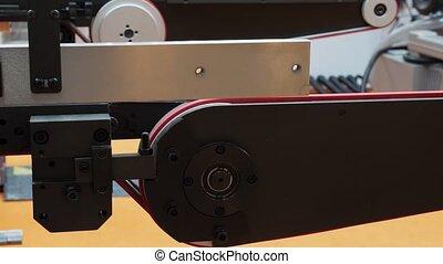 industriel, machine., haut, production, automatisé, factory., fin, ligne, automatique, meubles