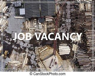 industriel, mot, needed, ouvriers, above., endroit, sur