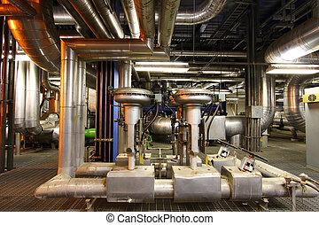 industriel, moteur, pompe