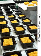 industriel, nourriture, production