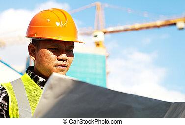 industriel, ouvrier construction