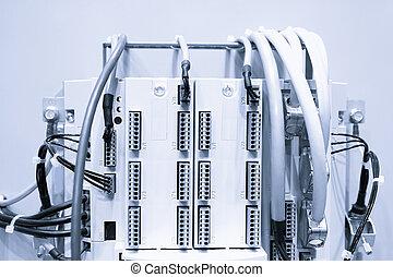 industriel, puissance, cas, panneau, à, circuit-breakers