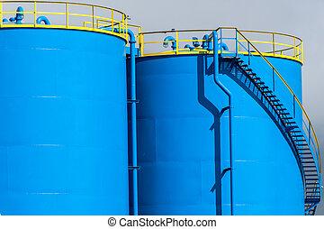 industriel, réservoirs