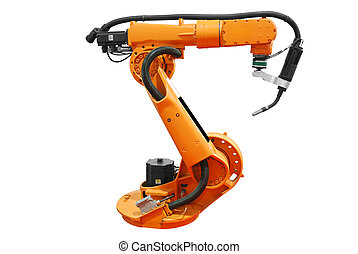 industriel, robotic bevæbner, isoleret
