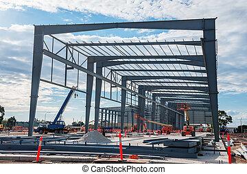 industriel, site construction