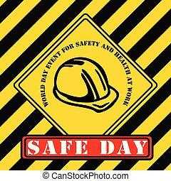 industriel, symbole, -, sécurité, mondiale, jour