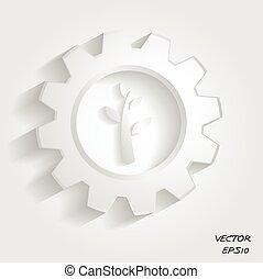 industriel, symbole, vert