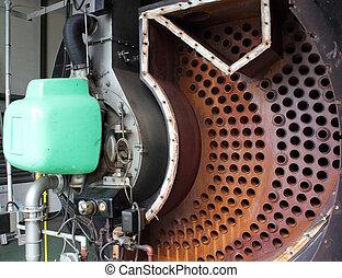 industriel, vapeur, chaudière