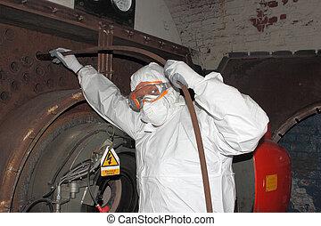 industriel, vapeur, propre, chaudière