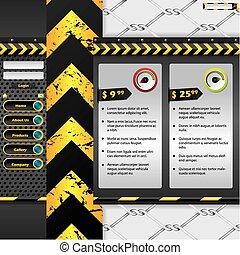 industriel, website, konstruktion