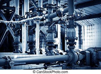industriel, zone, pipeline