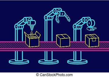 industriele robot, arm