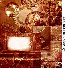 industriell, bakgrund, ingenjörsvetenskap, abstrakt