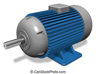 industriell, elektrisk motor