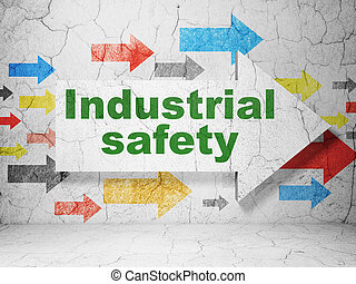 industriell,  grunge, Pil, vägg, konstruktion, säkerhet, bakgrund,  concept:
