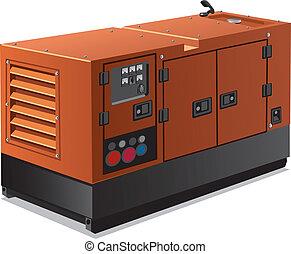 industriell, makt generator