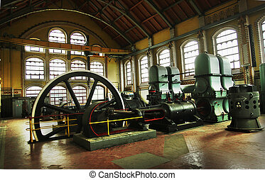 industriell, maskiner