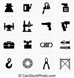 industriell, objekt