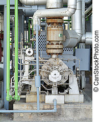 industriell, pump, system