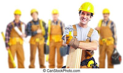 industrielle arbeiter, group.