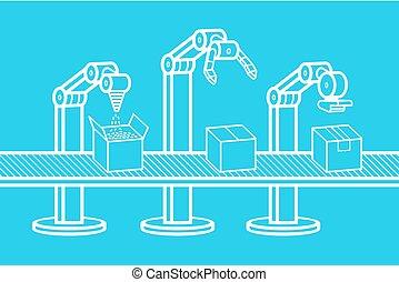 industrieller roboter, arm