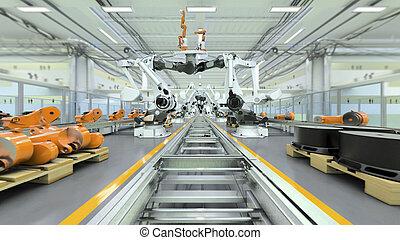 industrieller roboter, fabrik