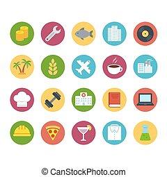 Industries icon set