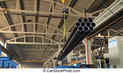 industry., металлургический, technology., труба, прокатка, производство, plant.