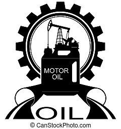 industry-1, olio, icona