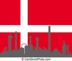 Industry and flag of Denmark