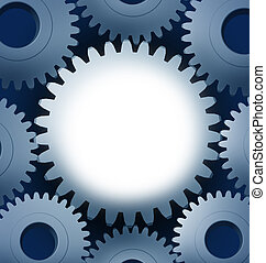 Industry and manufacturing with a blank center and a...