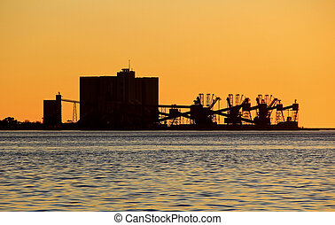 Industry at sunset