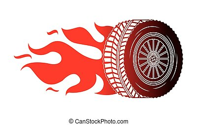 industry automotive wheel car in fire emblem