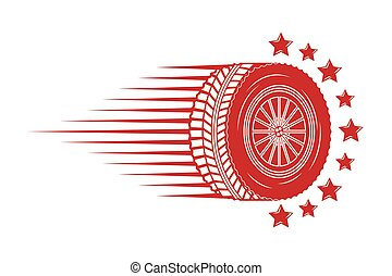industry automotive wheel car speed stars emblem