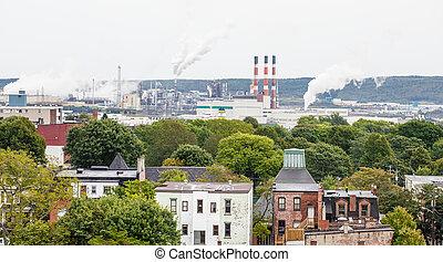 Heavy manufacturing industry beyond Saint John, Canada