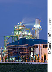 Industry boiler in Oil Refinery Plant - Architecture of...