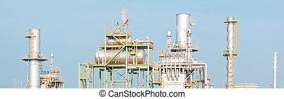 Industry boiler - Panorama of Industry boiler in Oil...